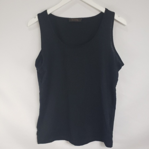 The Limited Tops - The Limited Black Silver Thread Sleeveless Tank
